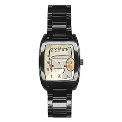 Happy Beam Stainless Steel Barrel Watch