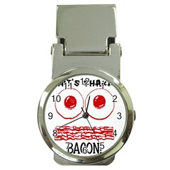 Whats Shakin Bacon? Money Clip With Watch