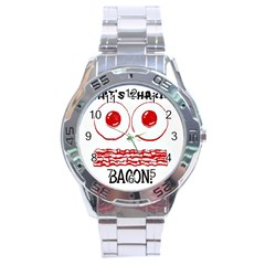 Whats Shakin Bacon? Stainless Steel Watch