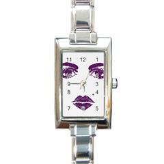 Beauty Time Rectangular Italian Charm Watch