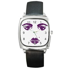 Beauty Time Square Leather Watch