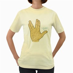 Lonely Again  Womens  T-shirt (Yellow)