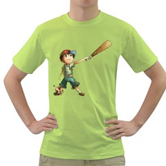 Slugger Mens  T-shirt (Green)