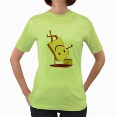 Bread Dance Womens  T-shirt (Green)