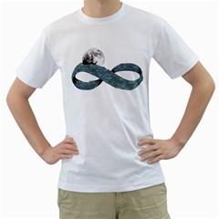 Infinite trip Mens  T-shirt (White)