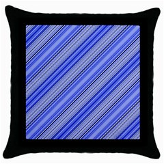 Lines Black Throw Pillow Case