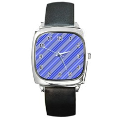 Lines Square Leather Watch
