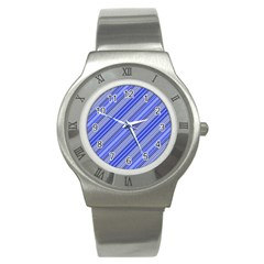 Lines Stainless Steel Watch (Slim)