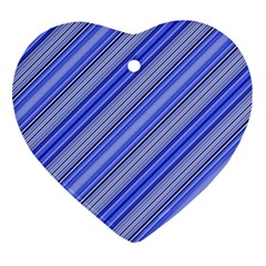 Lines Heart Ornament (Two Sides)