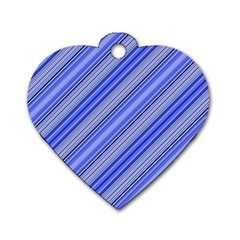 Lines Dog Tag Heart (Two Sided)