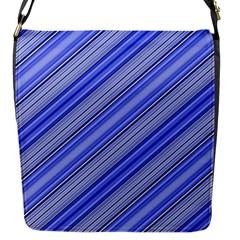 Lines Flap Closure Messenger Bag (Small)
