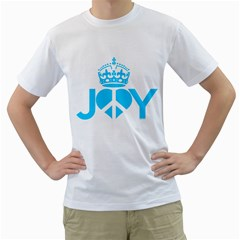 JOY PEACE Mens  T-shirt (White)