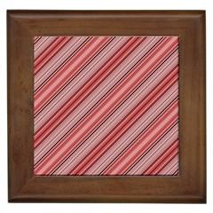 Lines Framed Ceramic Tile