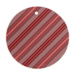 Lines Round Ornament