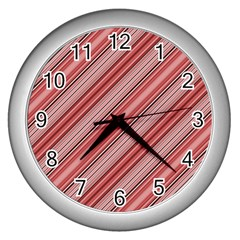 Lines Wall Clock (Silver)