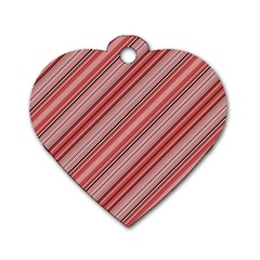 Lines Dog Tag Heart (One Sided)