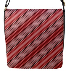 Lines Flap Closure Messenger Bag (Small)