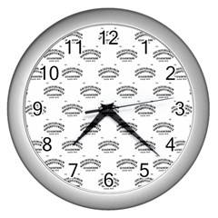 Talking Board Wall Clock (Silver)