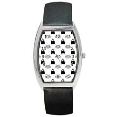 Talking Board Tonneau Leather Watch