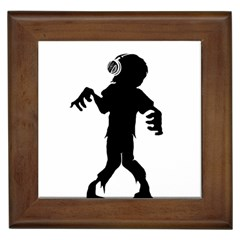 Zombie Boogie Framed Ceramic Tile