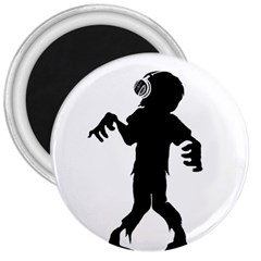 Zombie boogie 3  Button Magnet