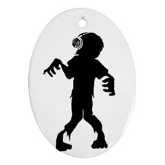 Zombie boogie Oval Ornament