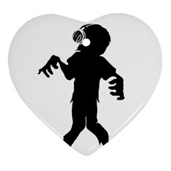 Zombie boogie Heart Ornament