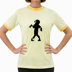 Zombie boogie Womens  Ringer T-shirt (Colored)