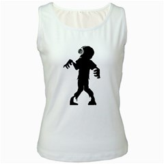 Zombie boogie Womens  Tank Top (White)