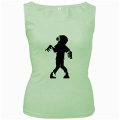 Zombie Boogie Womens  Tank Top (green)