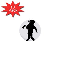 Zombie boogie 1  Mini Button (10 pack)