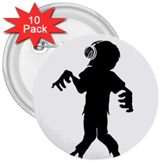 Zombie Boogie 3  Button (10 Pack)