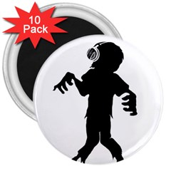 Zombie boogie 3  Button Magnet (10 pack)