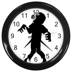 Zombie boogie Wall Clock (Black)