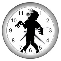 Zombie boogie Wall Clock (Silver)