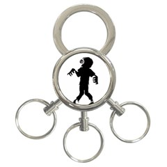 Zombie boogie 3-Ring Key Chain