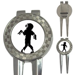 Zombie Boogie Golf Pitchfork & Ball Marker