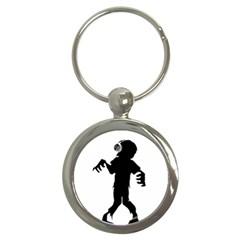 Zombie Boogie Key Chain (round)