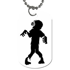 Zombie boogie Dog Tag (One Sided)