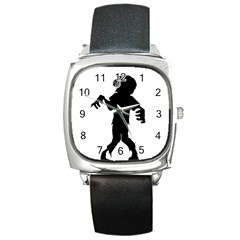 Zombie boogie Square Leather Watch