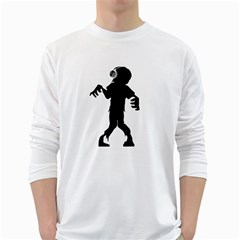 Zombie boogie Mens' Long Sleeve T-shirt (White)