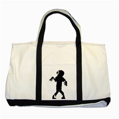 Zombie boogie Two Toned Tote Bag
