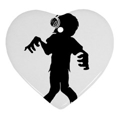 Zombie boogie Heart Ornament (Two Sides)