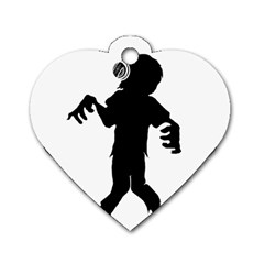 Zombie boogie Dog Tag Heart (One Sided)