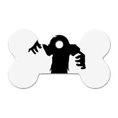 Zombie boogie Dog Tag Bone (Two Sided)