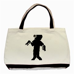 Zombie boogie Twin-sided Black Tote Bag