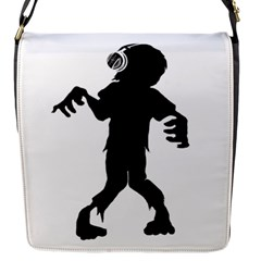 Zombie boogie Flap Closure Messenger Bag (Small)