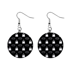 Talking Board Mini Button Earrings