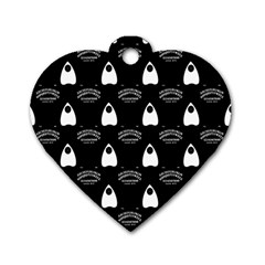 Talking Board Dog Tag Heart (Two Sided)