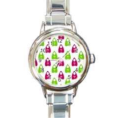 Talking Board Round Italian Charm Watch